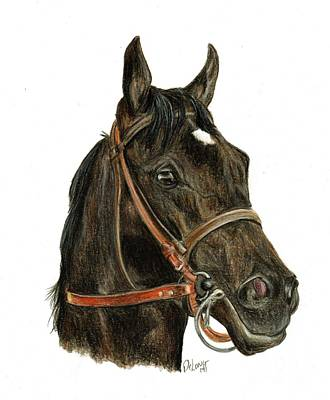 Horse Racing Painting - Shared Belief by Pat DeLong