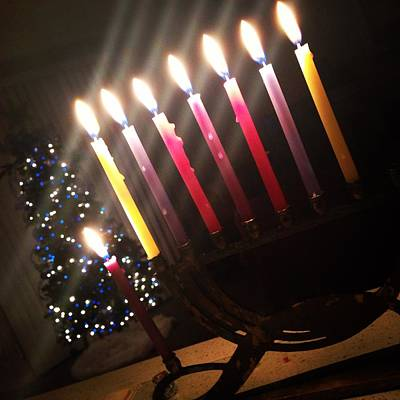 Chanukkah Photograph - Shared Holidays by Alyson Innes