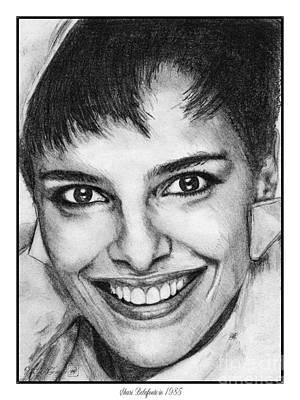 Famous Women Singers Drawing - Shari Belafonte In 1985 by J McCombie