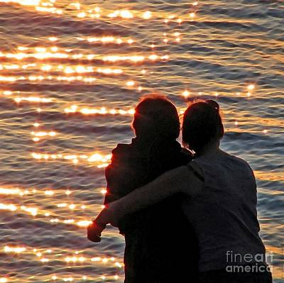 Photograph - Sharing A Sunset Squared by Chris Anderson
