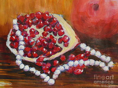 Painting - Staring At A Pomegranate by Dan Whittemore
