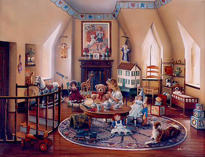Painting - Sharing Secrets by John P. O'brien