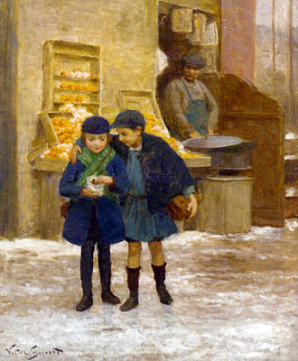 Photograph - Sharing The Treats by Victor Gabriel Gilbert