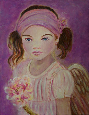 Sharissa Little Angel Of New Beginnings Art Print by The Art With A Heart By Charlotte Phillips