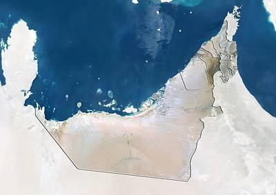 Sharjah, Uae, Satellite Image Art Print by Science Photo Library