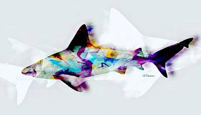 Shark Art II Art Print by Barbara Chichester