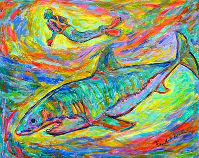 Painting - Shark Energy by Kendall Kessler