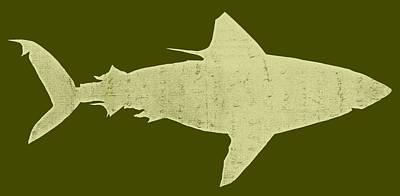 Sharks Wall Art - Digital Art - Shark by Michelle Calkins