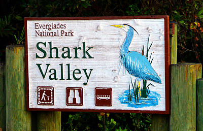 Photograph - Shark Valley Sign by David Lee Thompson