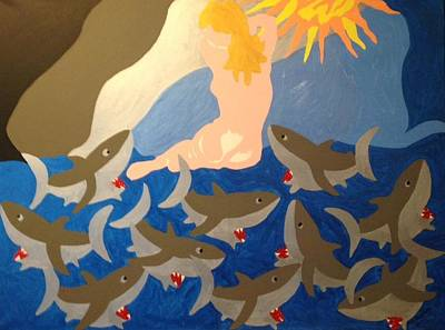Painting - Sharks by Erika Chamberlin
