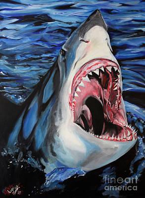 Sharks Get Smart Art Print by Lambert Aaron