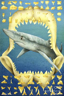 Shark Painting - Sharks Truth... by Will Bullas