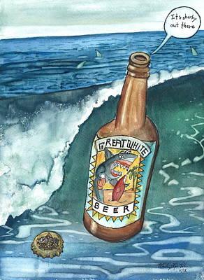 Sharky Water Art Print