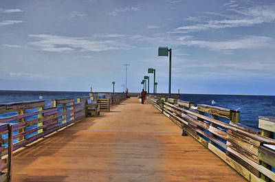 Photograph - Sharky's Fishing Pier by Sandy Poore