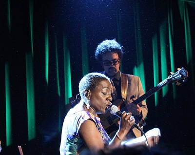 Dap Photograph - Sharon Jones And Bass by Jen LeFranc