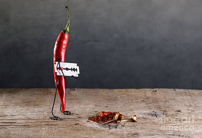 Cutting Photograph - Sharp Chili by Nailia Schwarz