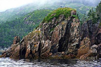 Barbara Griffin Art Photograph - Sharp Jagged Rocks  by Barbara Griffin