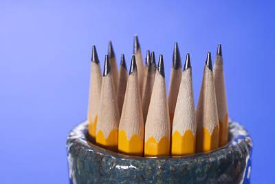 Ball Pen Work Photograph - Sharpened Pencils by Donald  Erickson