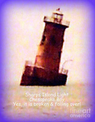 Photograph - Sharps Island Light by John Potts