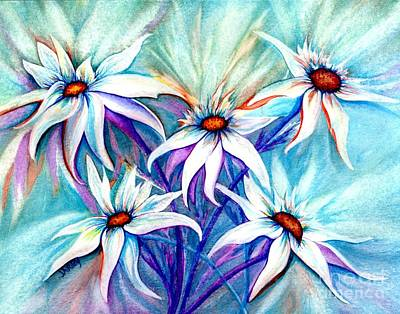 Wild Asters Painting - Shasta Daisy Dance by Janine Riley