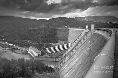 Outerspace Patenets Royalty Free Images - Shasta Lake Dam Royalty-Free Image by Along The Trail