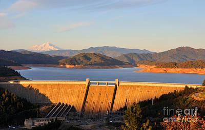 Shasta Lake Dam - California  Art Print by Gary Whitton