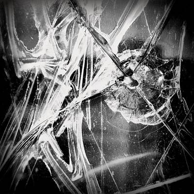 Photograph - Shatter - Black And White by Joseph Skompski