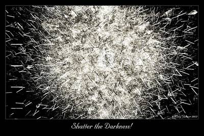 Digital Art - Shatter The Darkness by Missy Gainer