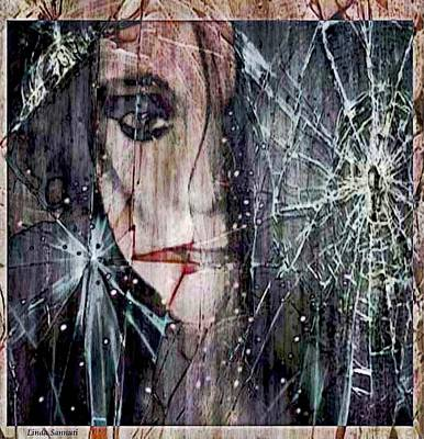 Creepy Digital Art - Shattered And Broken by Linda Sannuti