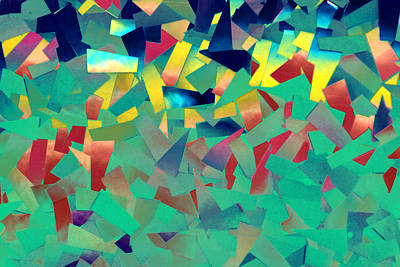 Mixed Media - Shattered Color by Kjirsten Collier