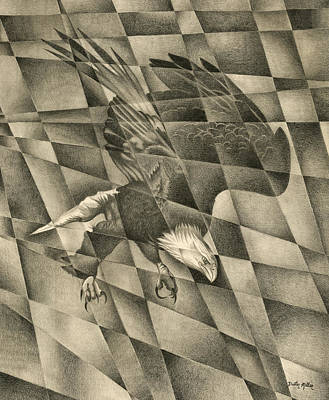 Drawing - Shattered Eagle by Dustin Miller