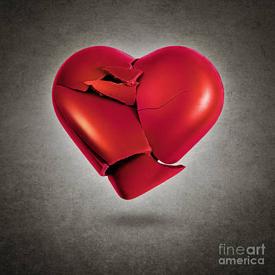 Shattered Heart Art Print by Carlos Caetano