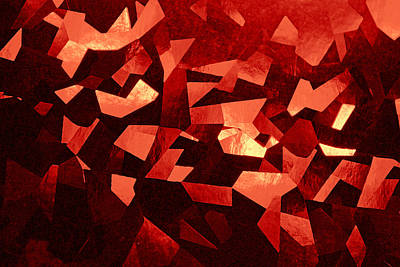 Mixed Media - Shattered Red by Kjirsten Collier