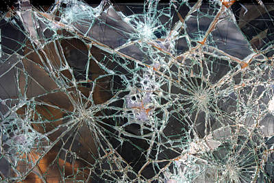 Photograph - Shattered Windshield by John Orsbun