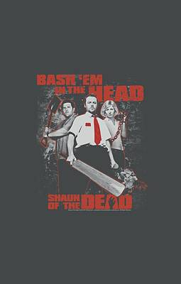 Shaun Of The Dead Digital Art - Shaun Of The Dead - Bash Em by Brand A