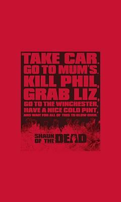 Shaun Of The Dead Digital Art - Shaun Of The Dead - List by Brand A