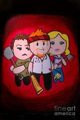 Painting - Shaun Of The Dead by Marisela Mungia