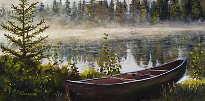 Canada Sports Painting - Shavasana by Mary Giacomini