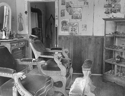 Foot Stool Photograph - Shave And A Haircut by Mark Eisenbeil