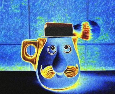 Digital Art - Shaving Mug by Will Borden