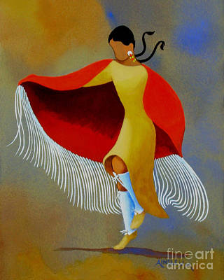 Shawl Dancer Art Print by Ainsley McNeely