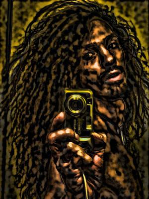 Mixed Media - Shawn Dall Self Portrait by Shawn Dall