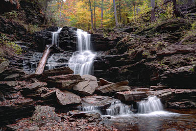 Photograph - Shawnee Falls Beyond The Boulders by Gene Walls