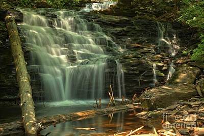 Photograph - Shawnee Falls In The Spring by Adam Jewell