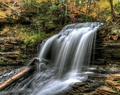 Sbatdorf Digital Art - Shawnee Falls by Sharon Batdorf