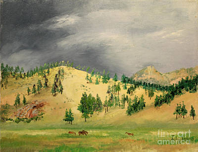 Painting - Shawnee Pasture - Colorado   by Art By Tolpo Collection