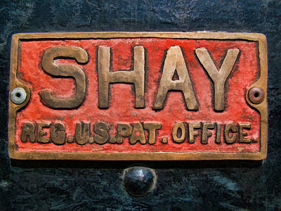 Photograph - Shay Builders Plate by Ken Smith