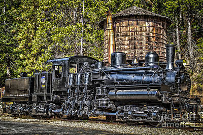 Castella Photograph - Shay Locomotive by Randy Wood