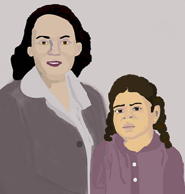 She And Her Mother Print by Pharris Art