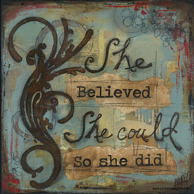 Believe Mixed Media - She Believed by Shawn Petite